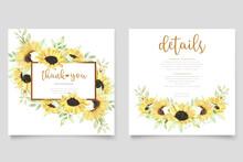 Watercolor Sunflower Invitation Card
