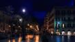 Palermo City at Night in Sicily in Italy, Europe, near Teatro Massimo Opera House