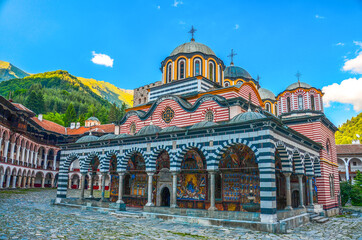 Inside view of Monastery of Saint Ivan (John) of Rila (Rila Monastery), Kyustendil Region