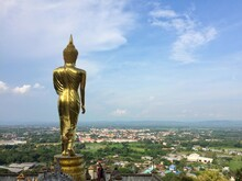 View Of Nan Province, Thailand, At Temple Phrathat Khao Noi.