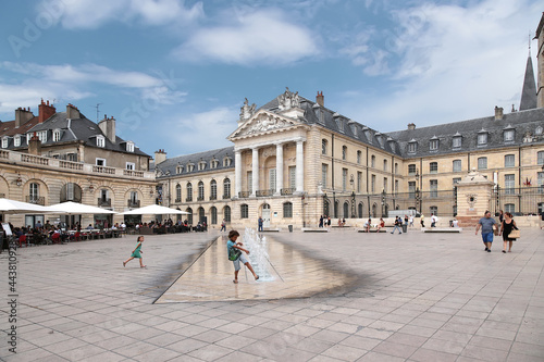 Dijon, France. Picturesque Liberation Square and Palace of the Dukes of Burgundy