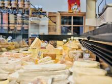 Handmade Cheese In Farm Store