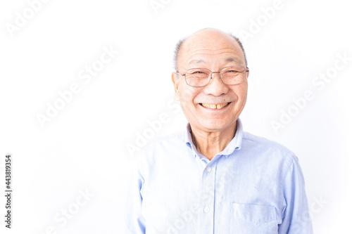 Obraz na plátně 笑顔のおじいさん
