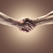 Strong Male Handshake.