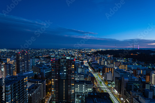 Leinwand Poster 仙台市を見下ろす夜景