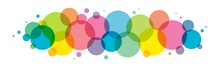 Colorful Vector Circles Background On White Background