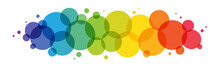 Rainbow Gradient Vector Circles Background On White Background