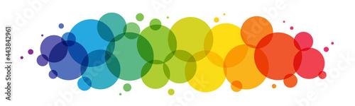 Slika na platnu Rainbow gradient vector circles background on white background