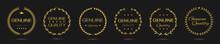Genuine Quality Golden Laurel Wreath Label Set