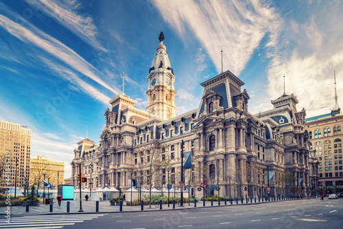 Obraz na plátně Historic City Hall in Philadelphia, USA