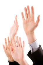 Hands Raised Up