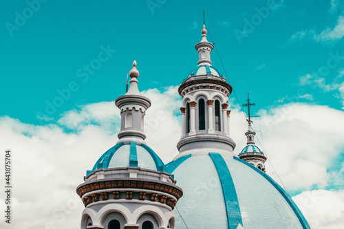 Fotografering Cuenca, capital of the province of Azuay, is located in the sierra of the Andes