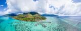 Fototapeta Paryż - Aerial view of Moorea island, French Polynesia