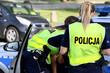 Polskie dziewczyny, policjantki w mundurach.
