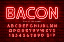 LED Light 3d Alphabet, Neon Extra Glowing Modern Type.