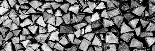 Valokuvatapetti textured firewood background of chopped wood for kindling and heating the house
