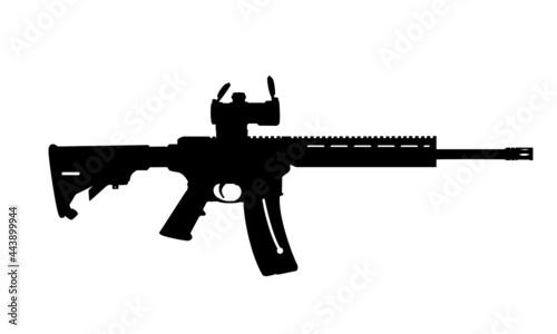 Fotografia AR15 Rifle Smith and Wesson MP 15-22 Silhouette