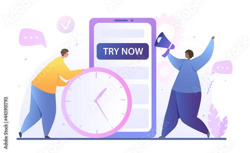 Obraz na płótnie Free trial version concept