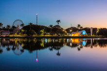 Sunset At The Pampulha Lagoon, In Belo Horizonte, Minas Gerais, Brazil.