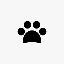 Dog Footprints Icon Vector Design On White Background