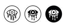 Tear, Cry Eye, Tearing Eyes Vector, Sign, Symbol, Logo, Illustration, Editable Stroke, Flat Design Style Isolated On White
