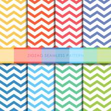 Zigzag Seamless Pattern Vector Set