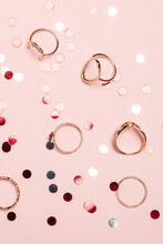 Golden Rings And Sparkles