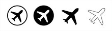 Airplane Icon Symbol Vector Illustration Set. Vector Illustration.