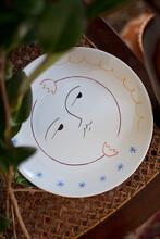 Still Life Of A Handmade Ceramic Plate