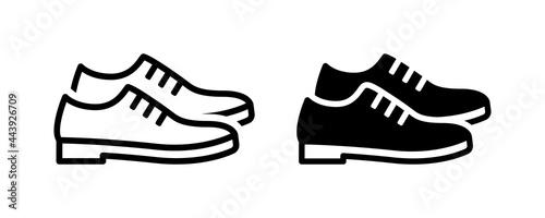 Foto Leather derby shoe or man footwear icon vector illustration.