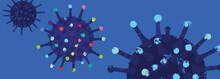 Stylized Illustration Of Coronavirus