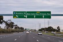 Freeway Leading Into Melbourne, Australia