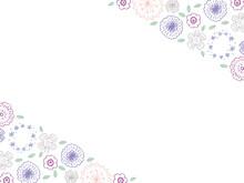 紫系フラワーフレーム