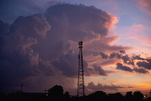 Clouds Behind The Signal Towers