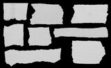 Fototapeta Kawa jest smaczna - Torn papers on black