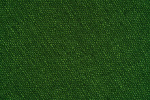 Texture Of Green Fabric Background.