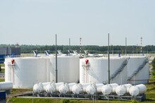 Aviation Fuel Storage For Aircraft At The Airport