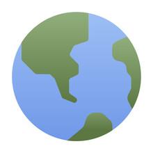 Worldwide Flat Gradient Icon