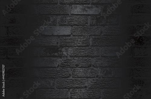 Valokuva Luxury black metal gradient background with distressed brick wall texture