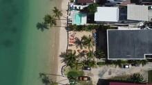 Bird Eye View Of Rim Lay Restaurant At Ao Yon Beach In Phuket Thailand