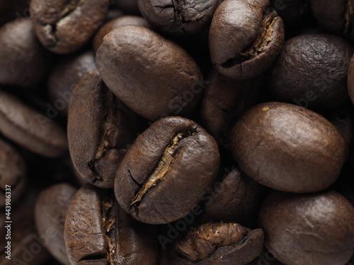 Wallpaper Mural coffee beans close up