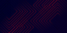Abstract Digital Futuristic Red Pattern Background .