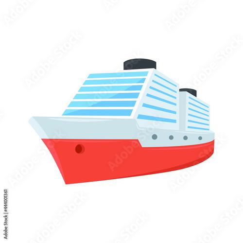 Cruiser Sign Emoji Icon Illustration. Ocean Transport Vector Symbol Emoticon Design Clip Art Sign Comic Style.