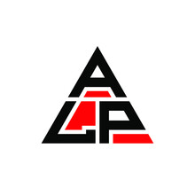 ALP Triangle Letter Logo Design With Triangle Shape. ALP Triangle Logo Design Monogram. ALP Triangle Vector Logo Template With Red Color. ALP Triangular Logo Simple, Elegant, And Luxurious Logo. ALP