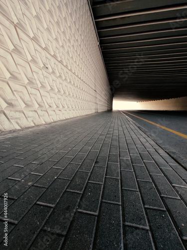 Canvastavla walkway in the tunnel