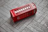Fototapeta Londyn - english red telephone box,London, England, UK