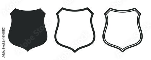 Fotografie, Obraz Web Security shield icon shape symbol set