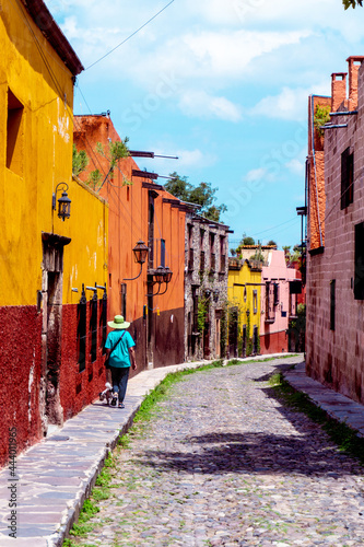 Obraz na plátne San Miguel de Allende was founded in 1542 in the cool highlands and is a city where Hispanic culture and Mesoamerican culture are in harmony