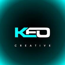 KEO Letter Initial Logo Design Template Vector Illustration