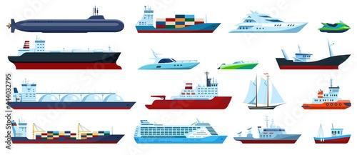 Obraz na plátně Flat sea boats